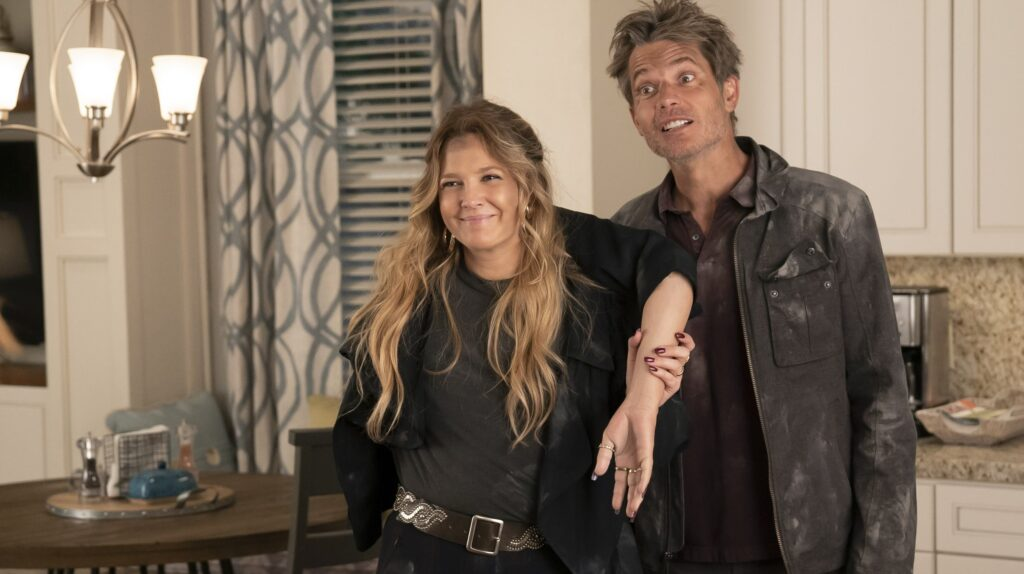 Drew Barrymore and Timothy Olyphant in Santa Clarita Diet Season 3
