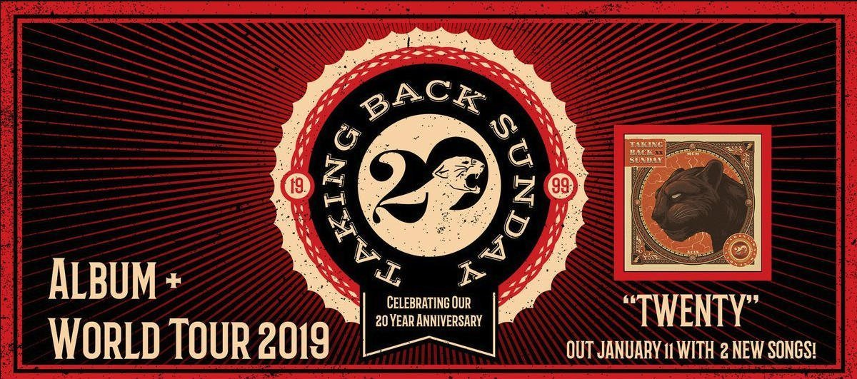 Taking Back Sunday have announced a special 20th anniversary tour
