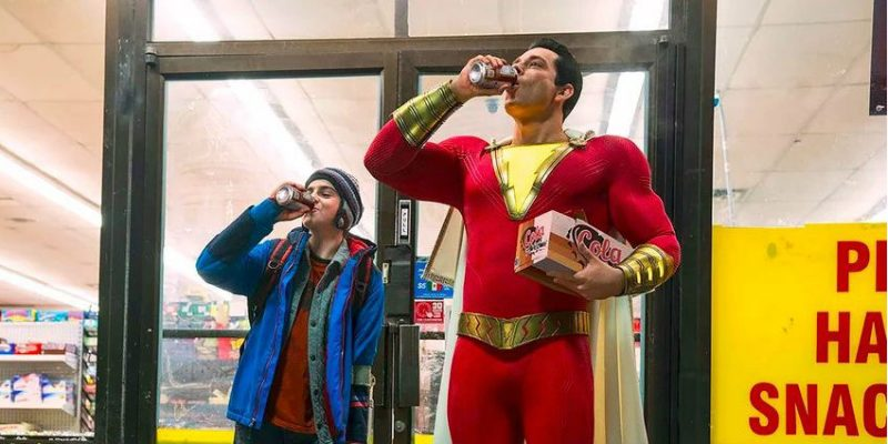 Zachary Levi and Jack Dylan Grazer in Shazam