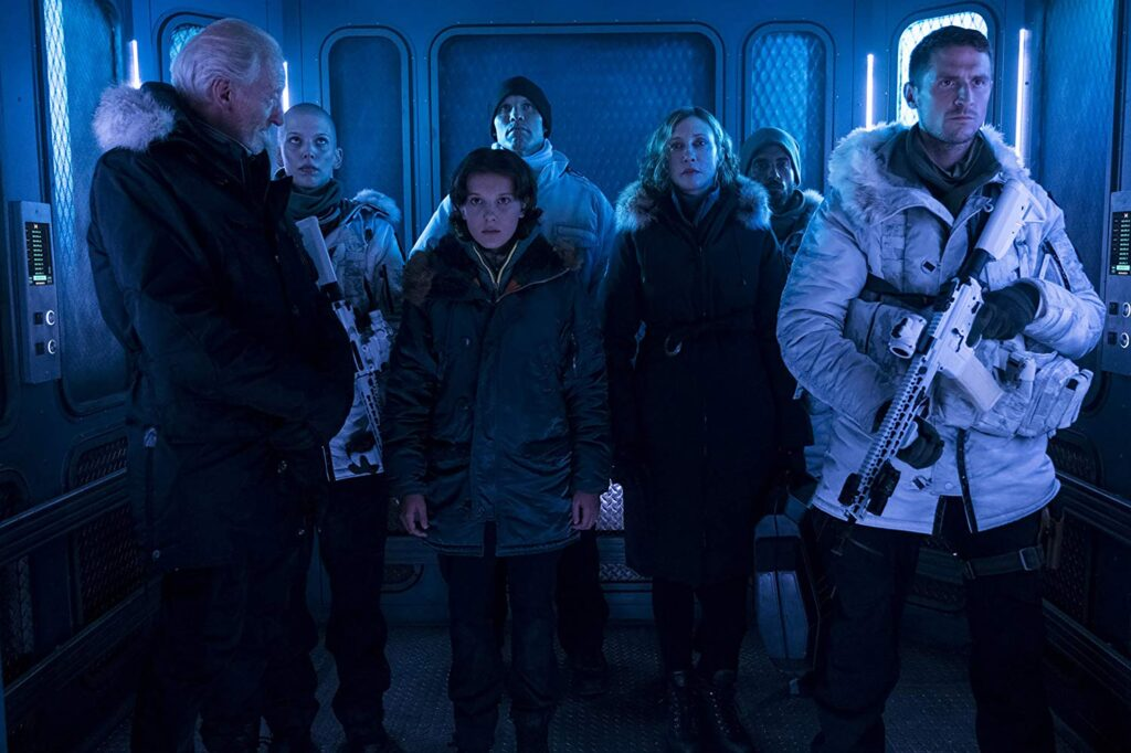 Charles Dance, Millie Bobby Brown and Vera Farmiga in Godzilla: King of the Monsters