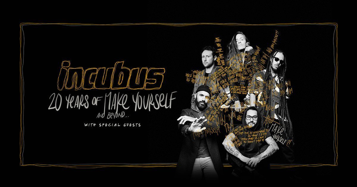 Incubus will hit the road to celebrate the 20th anniversary of their platinum selling album Make Yourself.