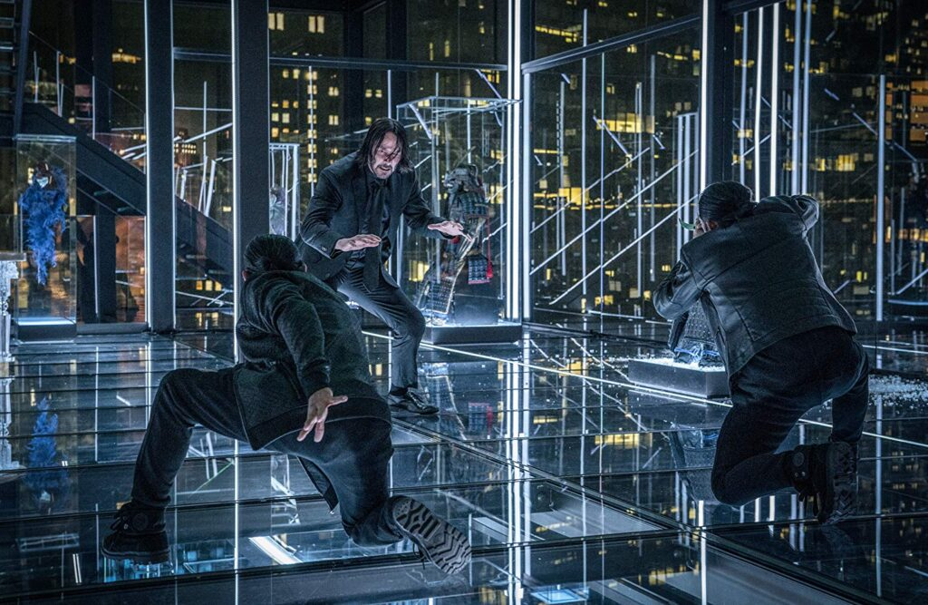 Keanu Reeves, Yayan Ruhian and Cecep Arif Rahman in John Wick Chapter 3