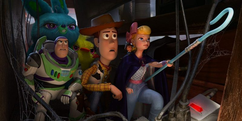 Tim Allen, Tom Hanks and Christina Hendricks in Toy Story 4