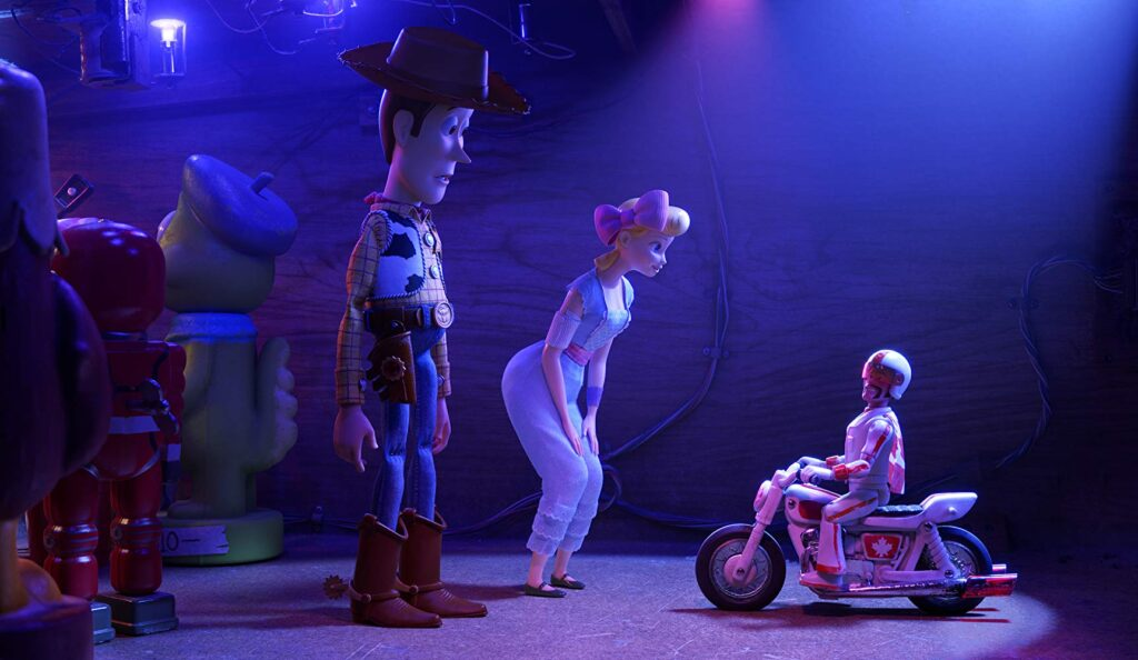 Tom Hanks, Christina Hendricks and Keanu Reeves in Toy Story 4