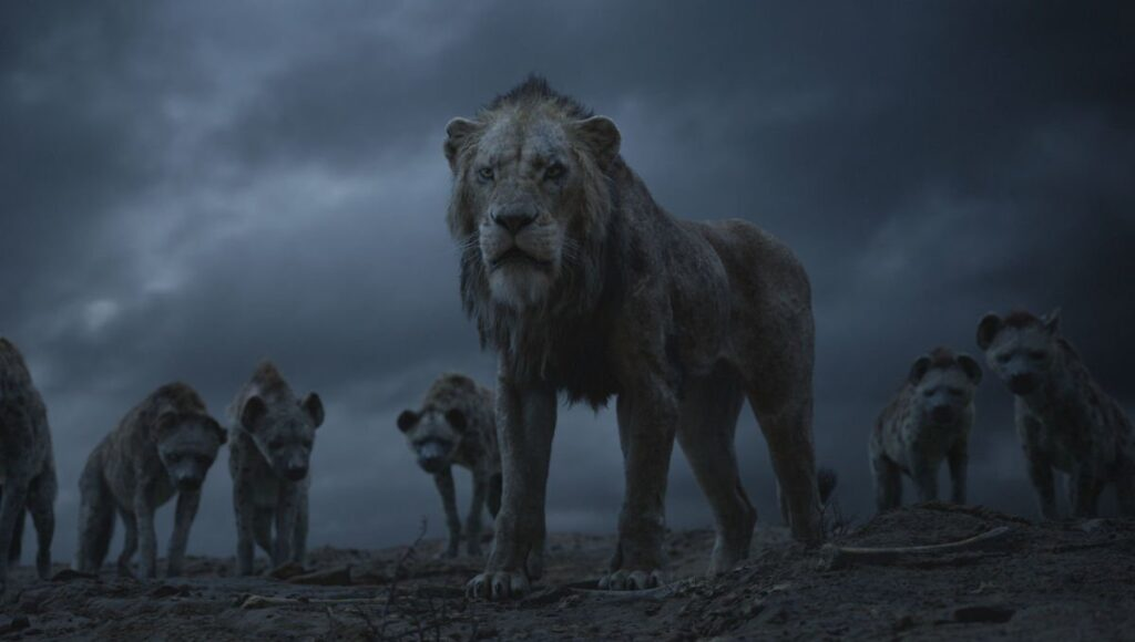 Scar and the hyenas in Disney's The Lion King