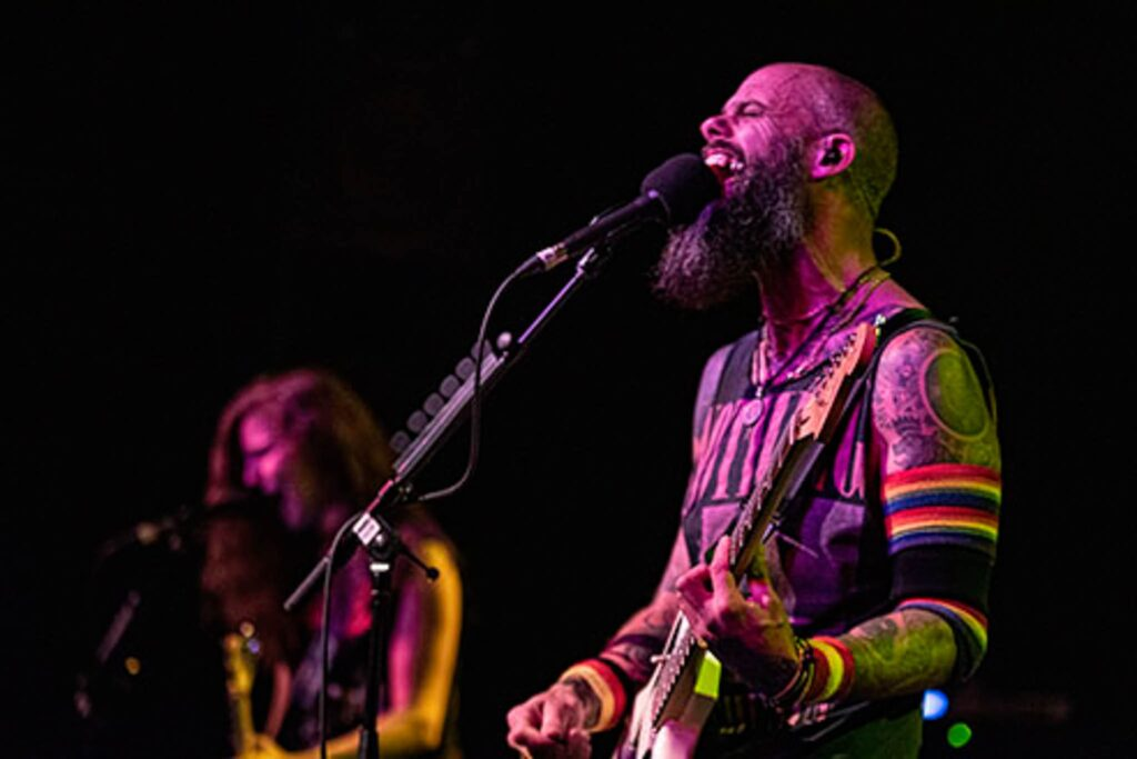 Baroness performs at The Varsity in Baton Rouge, Louisiana on August 4, 2019. Photo by Amy Breaux.