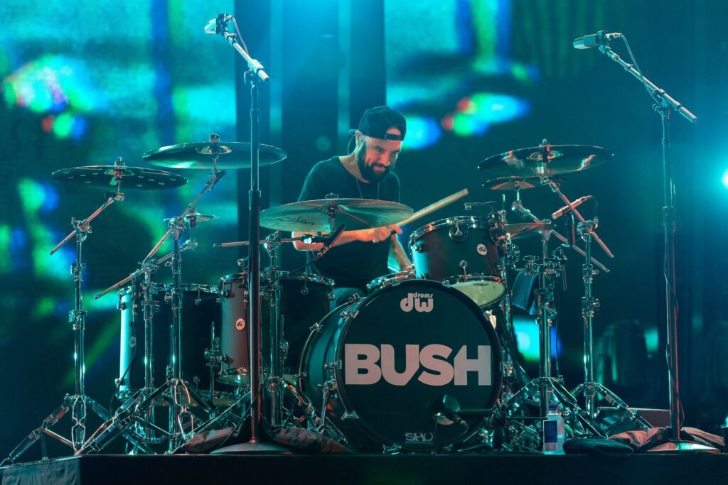 Bush performs at AVA Amphitheater in Tucson, AZ on August 11, 2019. Photo by Brent Hankins