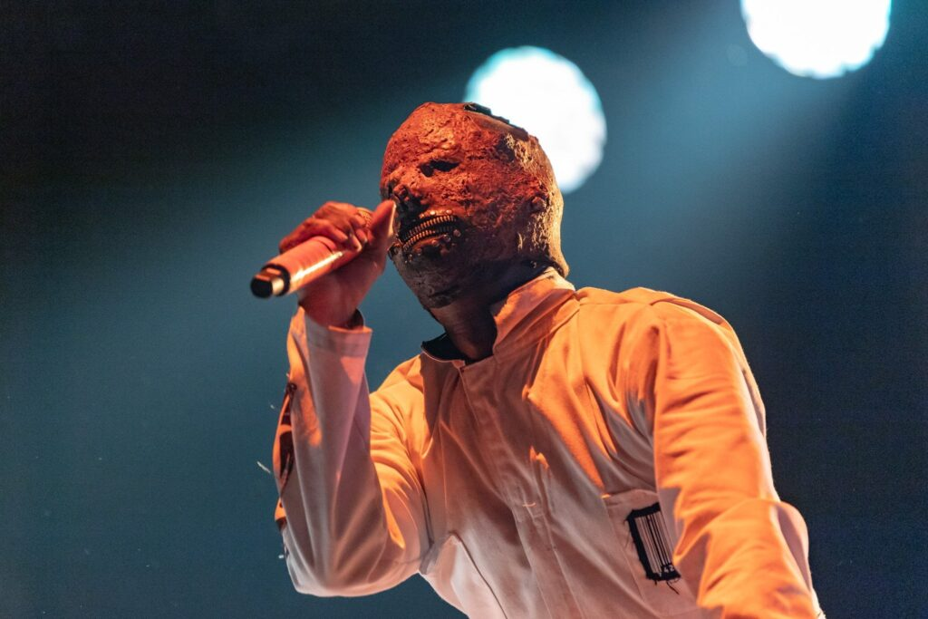 Slipknot performs at Ak-Chin Pavilion in Phoenix, AZ on August 4, 2019.