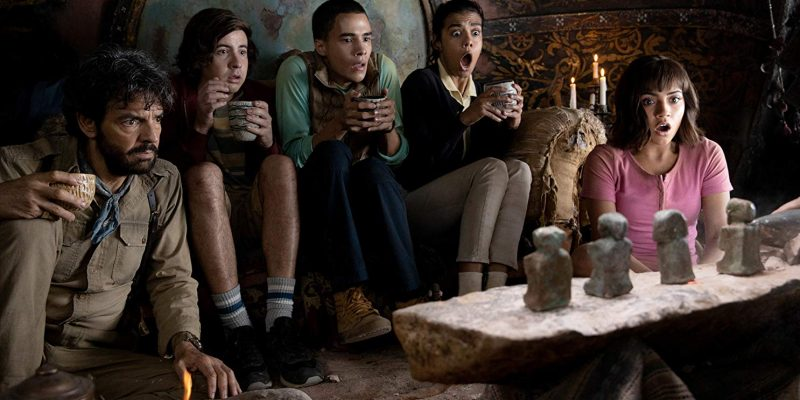 Isabela Moner and Eugenio Derbez in Dora and the Lost City of Gold