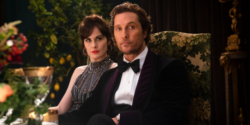 Matthew McConaughey and Michelle Dockery in The Gentlemen