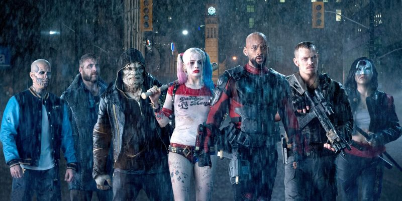 Margot Robbie, Will Smith, Joel Kinnaman and the cast of Suicide Squad