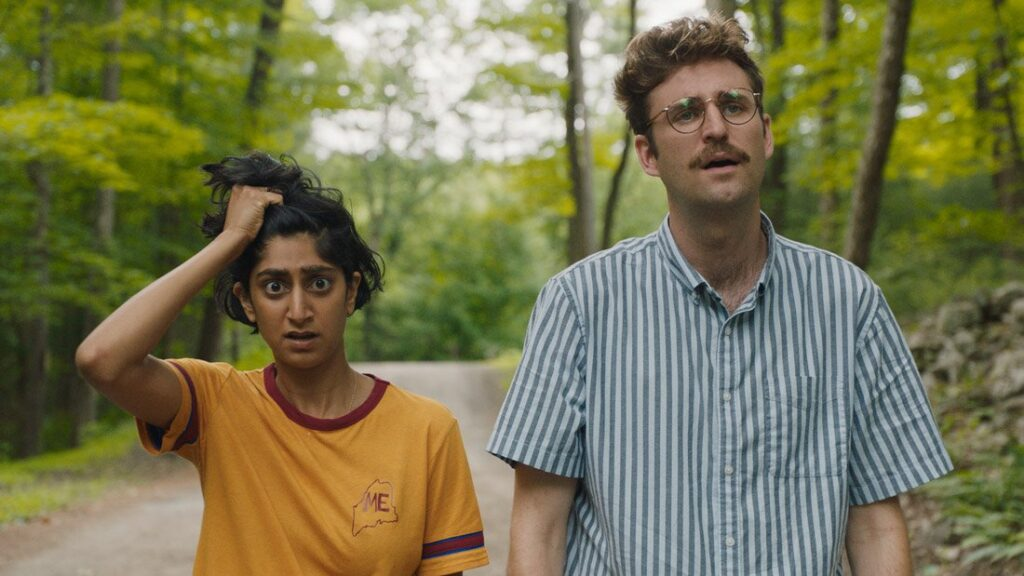 Sunita Mani and John Paul Reynolds in Save Yourselves