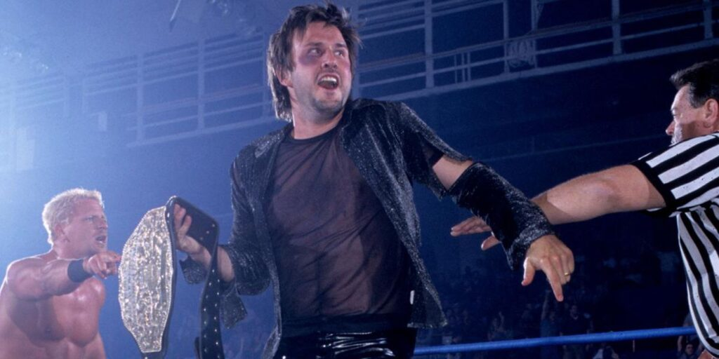David Arquette wins the WCW World Heavyweight Championship
