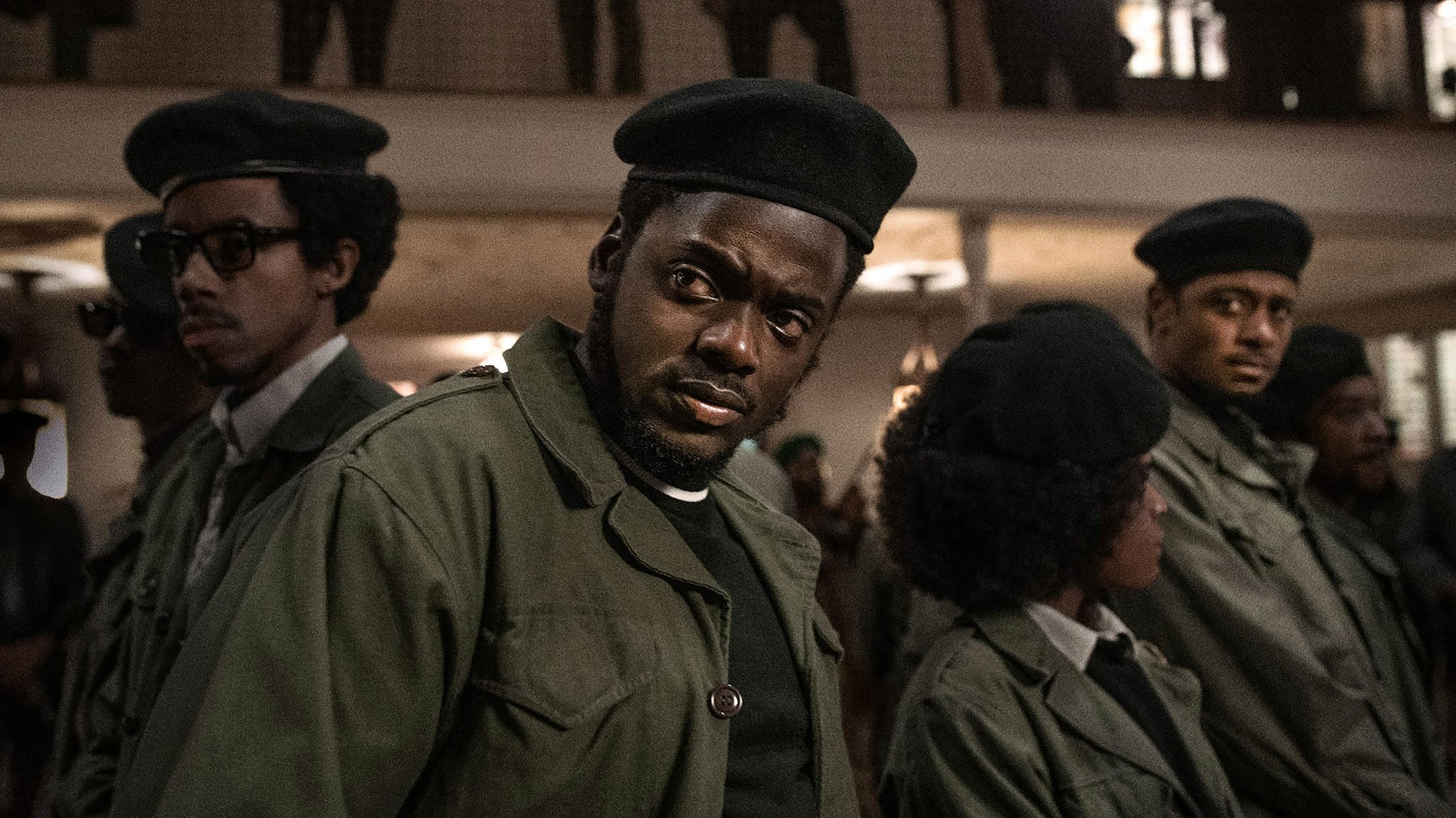 Darrel Britt-Gibson, Daniel Kaluuya and Lakeith Stanfield appear in Judas and the Black Messiah by Shaka King, an official selection of the Premieres section at the 2021 Sundance Film Festival. Courtesy of Sundance Institute | photo by Glen Wilson.